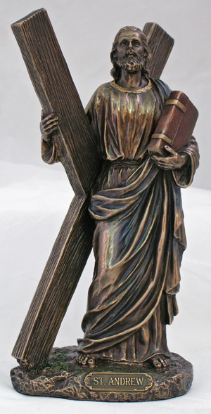8 5 Quot St Andrew Statue Bronzed Resin 64151