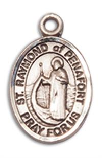 "Fine Pewter Charm Medal, 1/2"", St. Raymond of Penafort, Your Choice of Chain, # 10640"