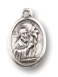 "St. Andrew Silver Oxidized Medal, 1"" overall, 25-Pack, # 1035"