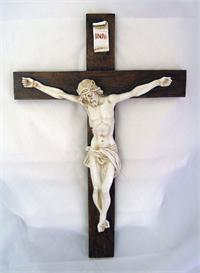 "15"" Alabaster Crucifix, Made in Italy,, Colored Cross, 1101182"