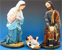 "3 pc. Polymer Outdoor Nativity Set, 25"" Colored Finish, # 13648"