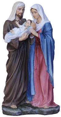 "8.5"" Holy Family Statue, Full Color Resin, #17694"