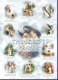 "19"" x 27"" Poster of the Lord's Prayer, Italian gold embossed, #, 56932"