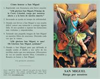 Oracion a San Miguel: Spanish Prayercard (Pack of 100), # 2515