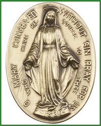 "Visor Clip, Bronze Oxide Finish, Immaculate Conception, 1-3/4"", # 3854"