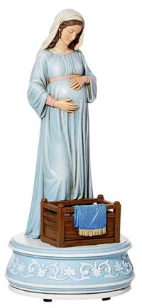 "8"" Mary, Mother of God Musical Figurine, # 4087"