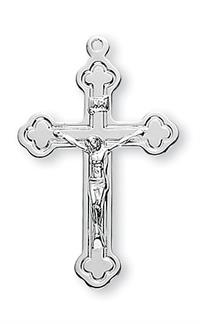 "1-1/4"" Crucifix, Sterling Silver, Your Choice of Chain, # 41976"