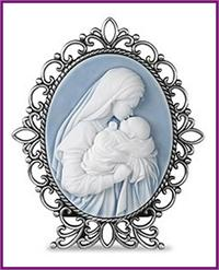 "5"" Mother's Kiss Cameo Desk Stand, # 45233"