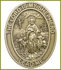 "Visor Clip, Bronze Oxide Finish, The Lord is My Shepherd, 1-5/8"" tall, # 45856"