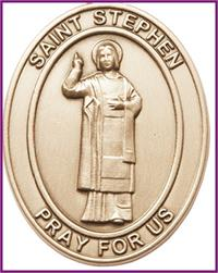 "Visor Clip, Bronze Oxide Finish, St, Stephen the Martyr, 1-5/8"", # 45947"