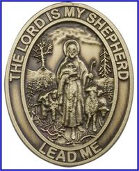 "Visor Clip, Bronze Oxide Finish, Lord is my Shepherd, 1-5/8"", # 45957"