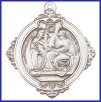 "Keychain, Silver Oxide Finish, Holy Family, 1-5/8"", # 45981"