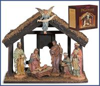 7-Pc Nativity Set with Wood Stable, # 4764