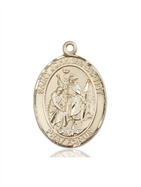 "St. John the Baptist Medal, 14kt Gold Filled, 1""x3/4"", Your Choice of Chain, # 54106"