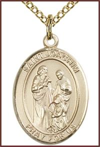 "14kt Gold Filled Medal, 3/4""x9/16"", St. Joachim, Your choice of chain, # 55310"