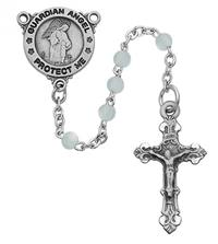 4mm Guardian Angel Rosary, Blue, # 55710