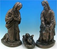 "3 pc. Polymer Outdoor Nativity Set, 25"", Bronze Finish, # 56921"