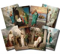 "20 Mysteries of the Rosary Poster Set, 4""x6"", # 5960"