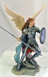"Archangel Raphael, Colored Resin, 13.5"", 63695"