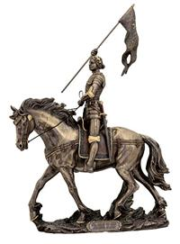 "10"" x 14"" St. Joan of Arc Statue, Bronzed Resin, # 63885"