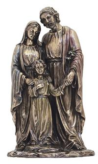 "10"" Holy Family Statue, Bronzed Resin, # 63892"