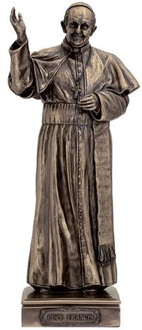 "11"" Pope Francis Statue, Bronzed Resin, # 63900"