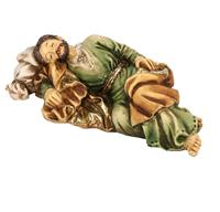 "4"" Full Color Resin Statue, Sleeping St. Joseph, # 6477"