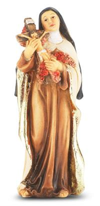 "4"" Full Color Resin Statue, St. Therese Lisieux, # 65375"