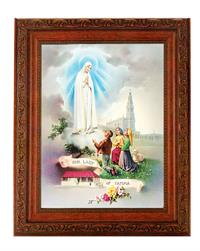10.25 X 12 Mahogany Finished Frame, Our Lady of Fatima, # 65742