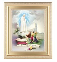 "11-1/2"" X 13-1/2"" Gold Finished Frame, Our Lady of Fatima, # 65743"