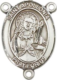 "St. Apollonia Rosary Center, Sterling Silver, 3/4"", # 66243"