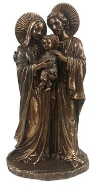 "8.5"" Holy Family Statue, Cold Cast Bronze, #67"