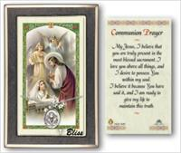 Girl's First Communion Medal with Prayer Card, gift boxed, Sterling Silver, # 67197