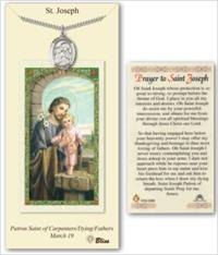 St. Joseph Pewter Medal with Laminated Prayer Card, # 67439