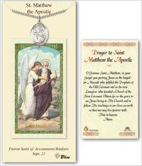 St. Matthew the Apostle Pewter Medal with Laminated Prayer Card, # 67449