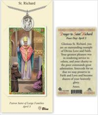 St. Richard Pewter Medal with Laminated Prayer Card, # 67464