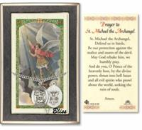 "Navy / St. Michael Medal with Prayer Card, 1"" Sterling Silver, # 67495"