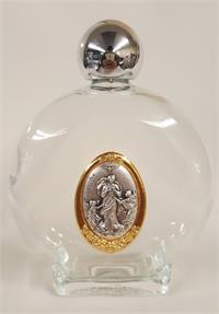 45 Holy Water Bottle 8 Oz Glass With Untier Of Knots Medallion