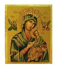 "Our Lady of Perpetual Help plaque, 7.5x9.5"". Made in Italy, # 7373"