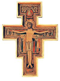 "San Damiano Cross with a raised border, 29"", Made in Italy, # 7378"