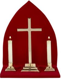 Altar Set With Background - Plain Cross, # 7556