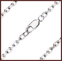 "18"" Box Cable Chain 2.75mm wide, Light Rhodium Plate, # 8541"