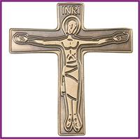 "Visor Clip, Bronze Oxide Finish, Cursillo Cross, 1-3/4"" tall, # 8604"