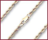 "36"" French Rope Chain, 2.45mm wide, Light Gold Plated, # 8665"