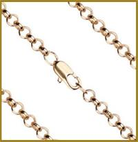 "16"" Rolo Chain, 3.15mm wide, Light Gold Plated, # 8697"