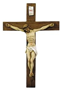 "15"" Alabaster Crucifix, Made in Italy,, Full Color, 8758"