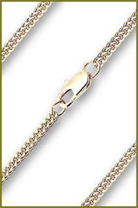 "30"" Heavy Hamilton Gold Plated Curb Chain, 2.1mm wide, # 8894"