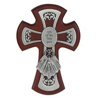 "6"" Cherry and Pewter Gifts of the Spirit Cross, # 8938"