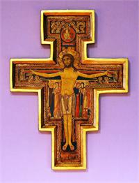 "San Damiano Cross with a raised border, 10""., 9397"