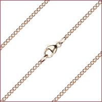 "16"" 14kt Gold Filled Curb Chain w/ Clasp, 1.4mm wide, # 9480"